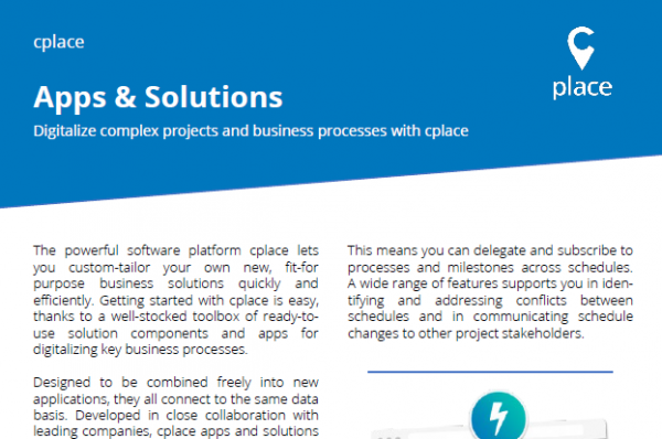 cplace Apps and Solutions