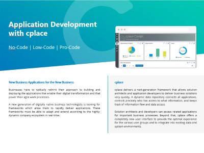 Application Development with cplace