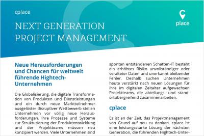 Next Generation Project Management Paper